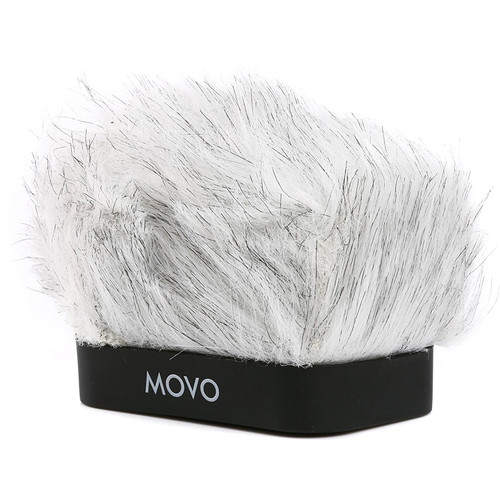 Movo Photo WS-R10 Furry Rigid Windscreen for Zoom iQ6, Tascam DR-07mkII, Sony PCM-M10 & Rode iXY