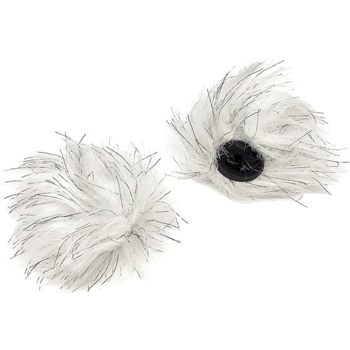 Movo Photo WS-RD12 Furry Windscreen for 12mm Lavalier Microphones (Set of 2)
