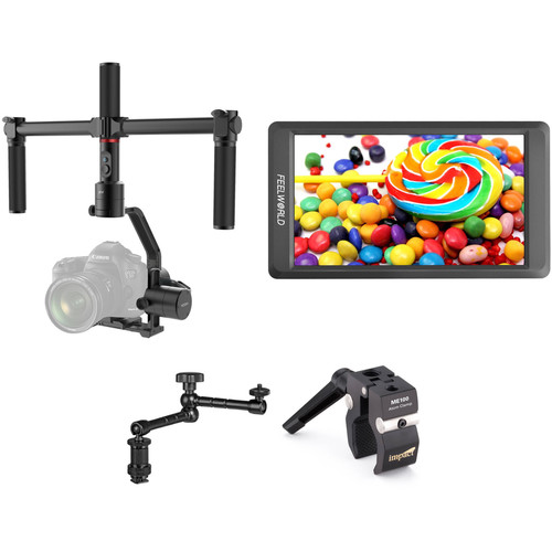 """Moza Air 3-Axis Gimbal Stabilizer Kit with 5.5"""" Monitor & Articulating Arm"""