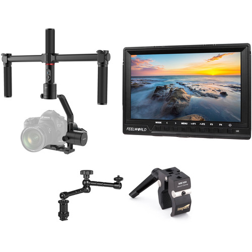 """Moza Air 3-Axis Gimbal Stabilizer Kit with 7"""" Monitor and Articulating Arm"""