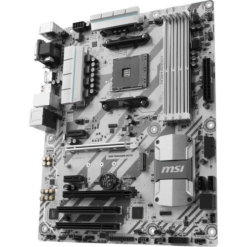 MSI B350 Tomahawk Arctic AM4 ATX Motherboard