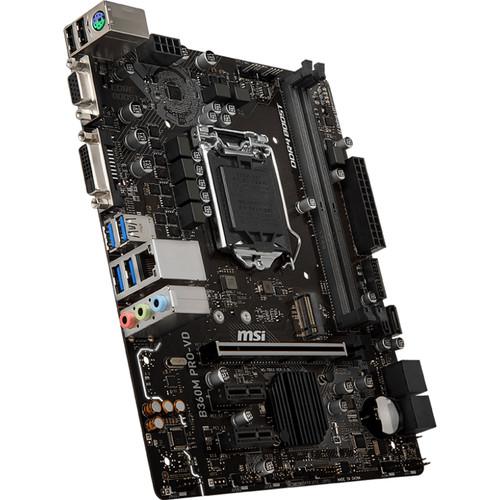 MSI B360M Pro-VD LGA 1151 Micro-ATX Motherboard
