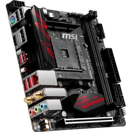 MSI B450I Gaming Plus AC AM4 Mini-ITX Motherboard