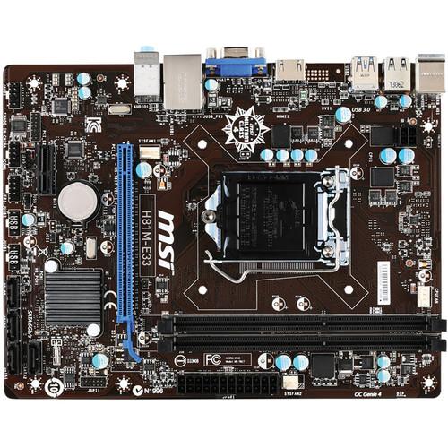 MSI H81M-E33 Desktop Motherboard