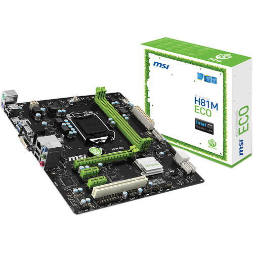 MSI H81M ECO Desktop Motherboard