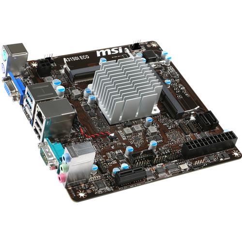 MSI N3150I ECO BGA 1170 Micro-ITX Motherboard