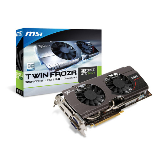 MSI GeForce GTX 660 Ti Graphics Card (3GB GDDR5 RAM)