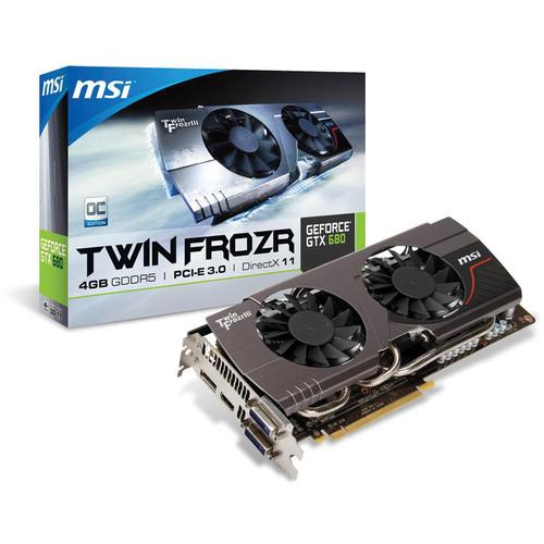 MSI GeForce GTX 680 Twin Frozr Graphics Card