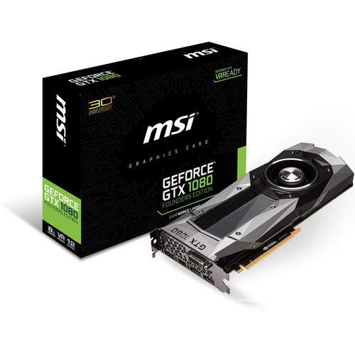 MSI GeForce GTX 1080 Founders Edition Graphics Card