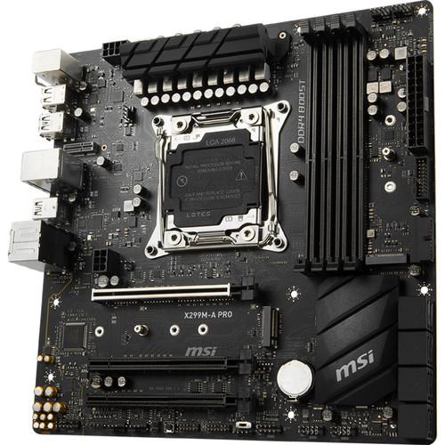MSI X299M-A Pro LGA 2066 Micro-ATX Motherboard