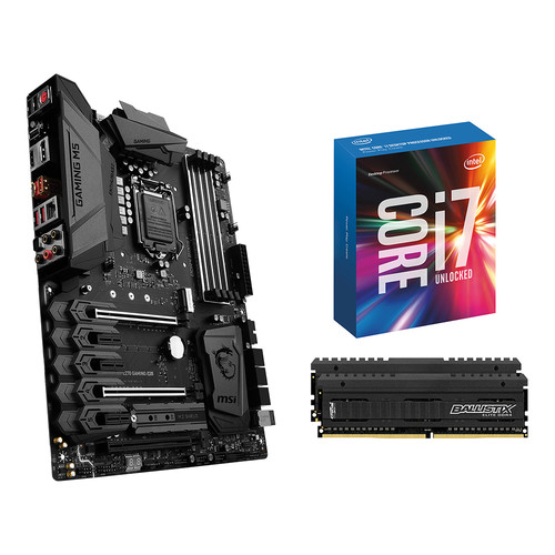 MSI Z270 Gaming M5 LGA1151 ATX Motherboard Kit with Intel Core i7-6700K CPU and 16GB of RAM
