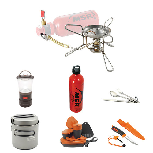 MSR MSR Whisperlite Liquid Fuel Stove Camp Cooking Kit