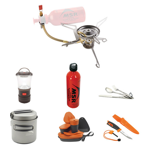 MSR Whisperlite Multi-Fuel Stove Camp Cooking Kit