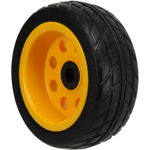 """MultiCart R-Trac Ground Glider Rear Wheel with Offset Hub for Select Carts (8x3"""", Pair)"""