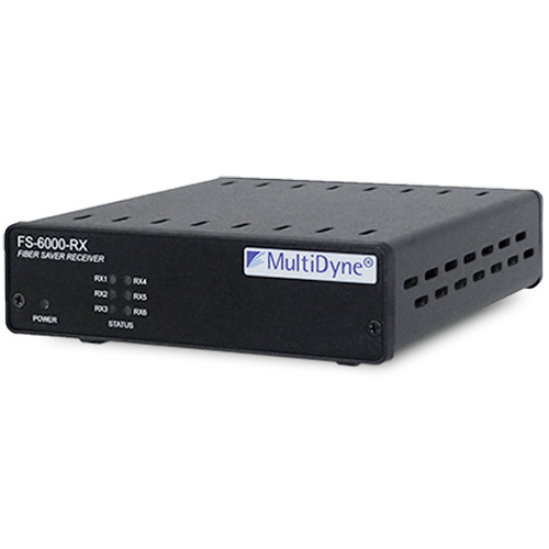 MultiDyne 6-Channel Fiber Saver Transmitter for Optical Digital Signals Up to 4.25GB/s and SDI 3GB/s