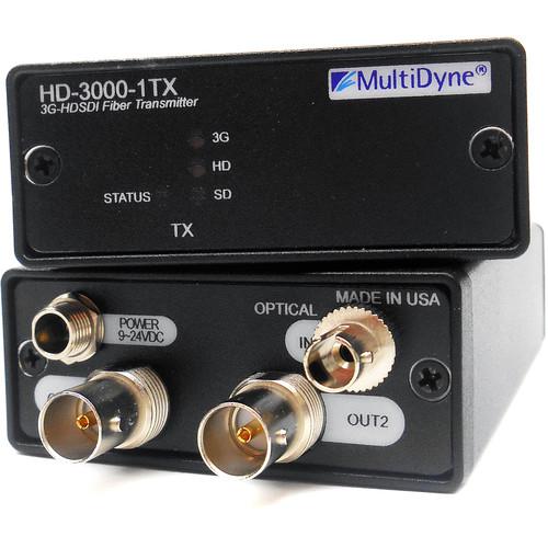 MultiDyne 3 Gbps Multi-Rate Serial Digital Video Transmitter Single Fiber