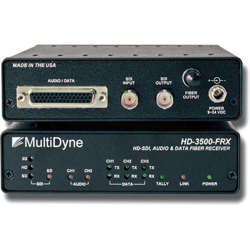 MultiDyne HD-3500-FRX-ST Multi-Rate Serial Video & Fiber-Optic Receiver
