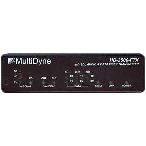 MultiDyne HD-3500-FTX-ST Multi-Rate Serial Video & Fiber-Optic Transmitter
