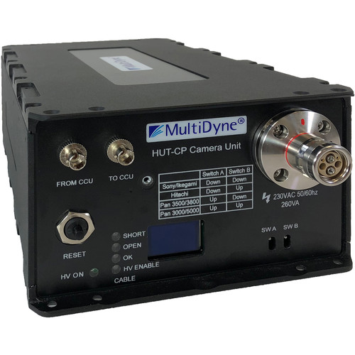 MultiDyne Powered HUT-CP CCU Extender with Two ST Fibers & SMPTE-304M Hybrid Plug