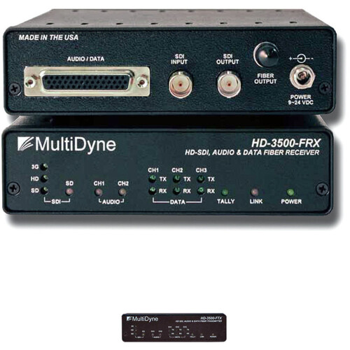 MultiDyne Multi-Rate Serial Video & Fiber-Optic Transmitter and Receiver Kit