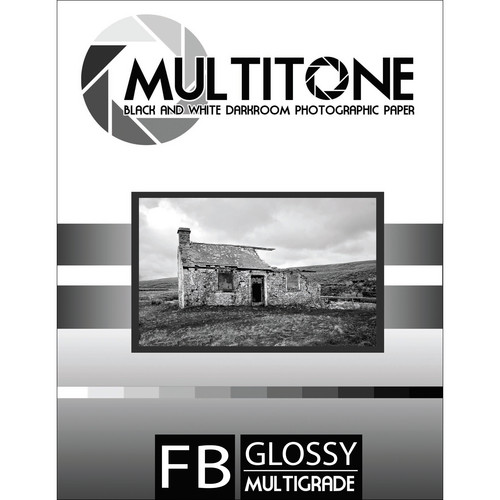 "MultiTone Glossy MultiFiber Variable Contrast Paper (8.0 x 10.0"" 25-Pack)"