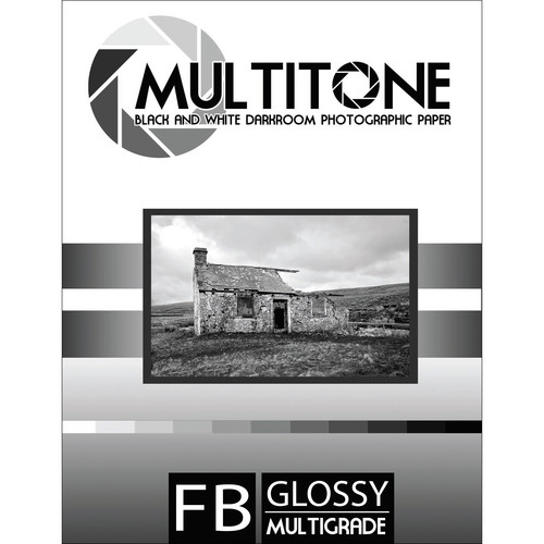 """MultiTone Glossy MultiFiber Variable Contrast Paper (11.0 x 14.0"""" 10-Pack)"""
