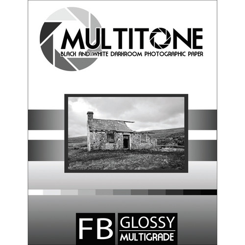 "MultiTone Glossy MultiFiber Variable Contrast Paper (11.0 x 14.0"" 50-Pack)"