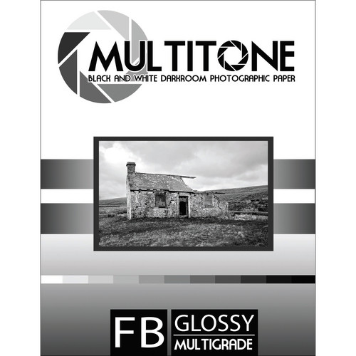 "MultiTone Glossy MultiFiber Variable Contrast Paper (5.0 x 7.0"" 100-Pack)"