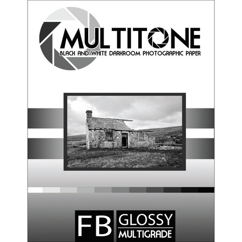 "MultiTone Glossy MultiFiber Variable Contrast Paper (8.0 x 10.0"" 100-Pack)"