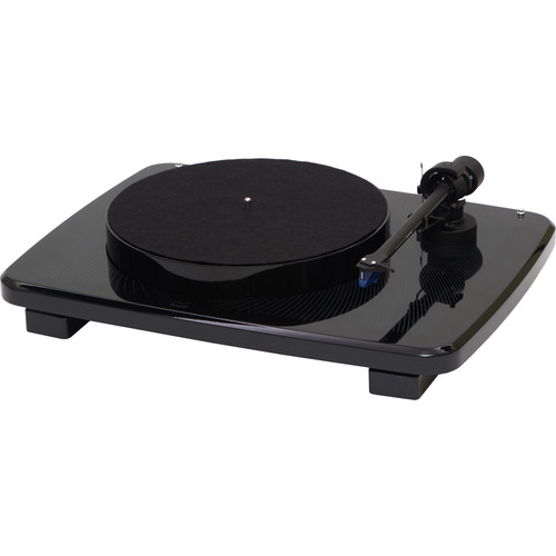 Music Hall ikura - Two-Speed Audiophile Turntable with Ortofon 2m Blue Cartridge (High Gloss Black)