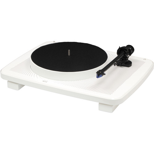 Music Hall ikura - Two-Speed Audiophile Turntable with Ortofon 2m Blue Cartridge (High Gloss White)