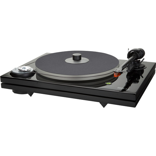 Music Hall MMF-7.3 2-Speed Turntable with Ortofon 2M Bronze Cartridge (Black Lacquer)
