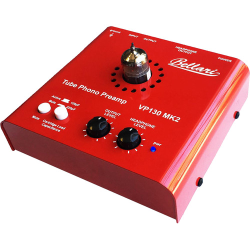 Music Hall Bellari vp130 mk2 Tube Phono Preamp with Headphone Amplifier for Moving-Magnet Cartridges