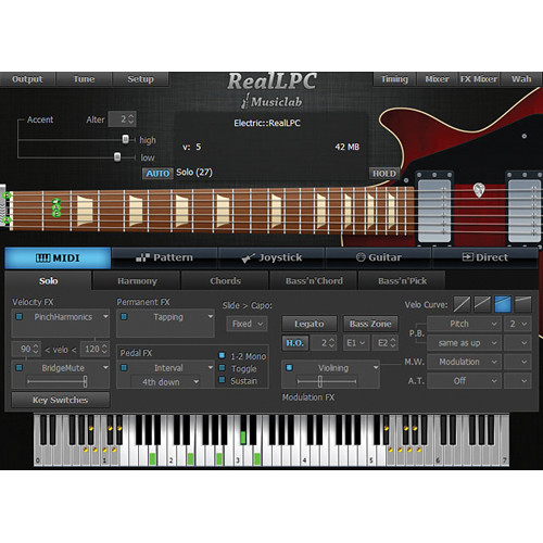 MusicLab RealLPC Virtual Guitar Instrument (Download)