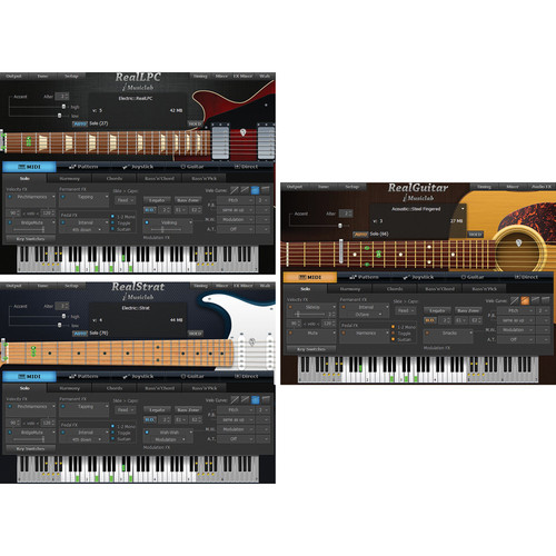 MusicLab Real Bundle 3 Guitar Software Bundle