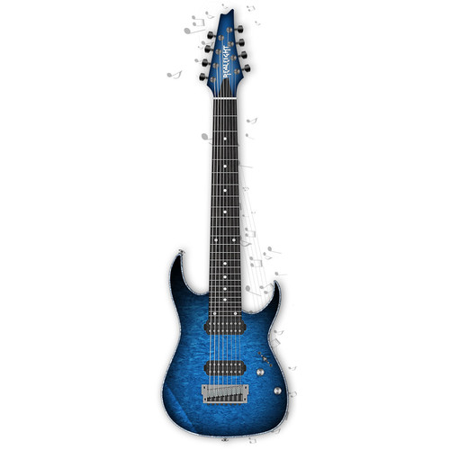 musiclab realeight 8 string electric guitar virtual 12 41398. Black Bedroom Furniture Sets. Home Design Ideas