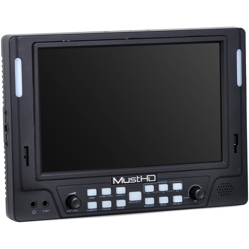 "MustHD 7"" 4K HDMI IPS On-Camera Monitor"