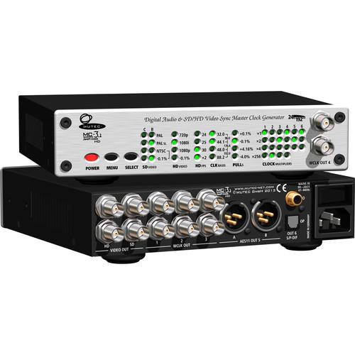 Mutec MC-3.2 Smart Clock HD - Digital Audio and Video Sync Reference Clock Generators