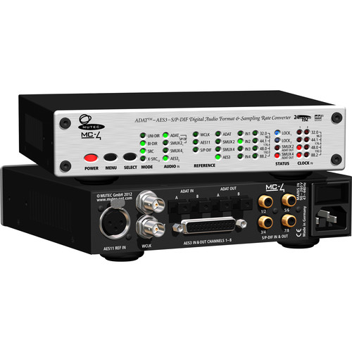 Mutec MC-4 Multi-Channel Digital Audio Format & Sample Rate Converter
