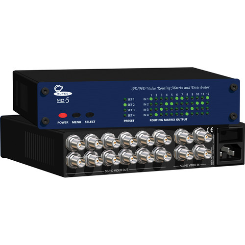 Mutec MC-5 SD/HD Video Routing Matrix and Signal Distributor