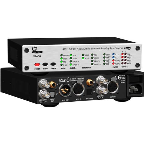 Mutec MC-6 Stereo Digital Audio Format & 4-Channel Sample Rate Converter