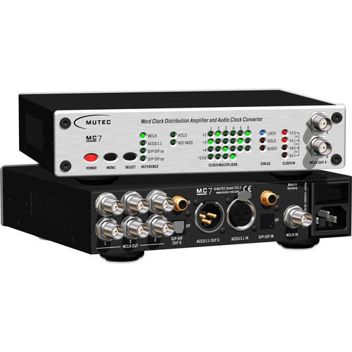 Mutec MC-7 - Word Clock Distribution Amplifier and Audio Clock Converter