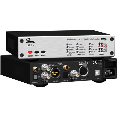 Mutec MC-1.2 Bidirectional USB & Digital Audio Interface (Aluminum Front Panel)