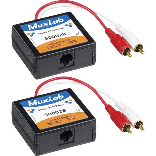 MuxLab Stereo Hi-Fi 2-Pack RCA Balun Kit