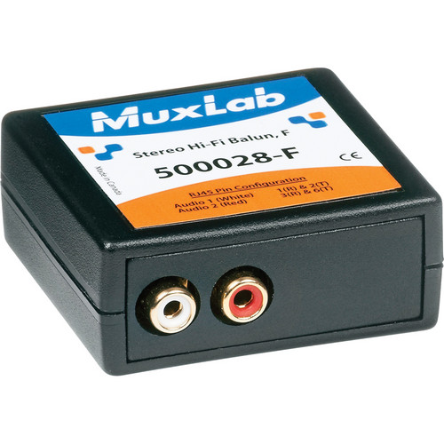 MuxLab 500028-F Stereo Hi-Fi Balun (Female)