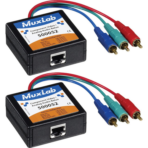 MuxLab Component Video & Analog Audio 2-Pack Balun Kit