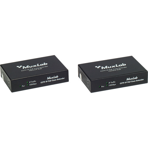 MuxLab LongReach CCTV IP PoE Extender Kit for 30W Camera