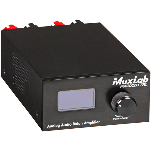MuxLab 500219 Analog Audio Balun Amplifier with RJ45 Input for Audio Balun and Audio Matrix Switch