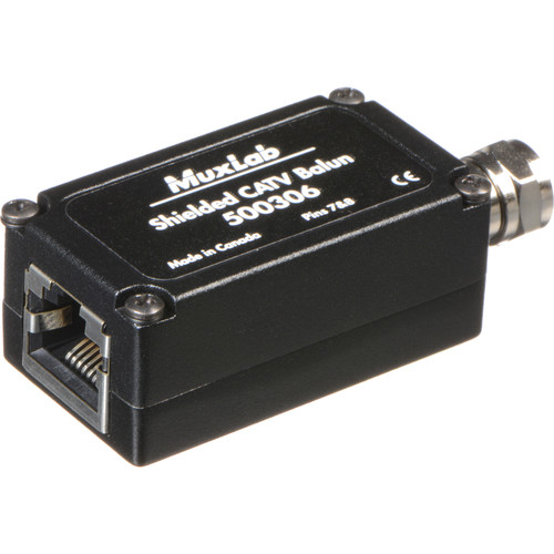 MuxLab Shielded CATV Balun (2-Pack)