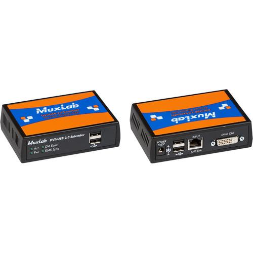 MuxLab DVI/USB 2.0 over HDBaseT Extender Kit
